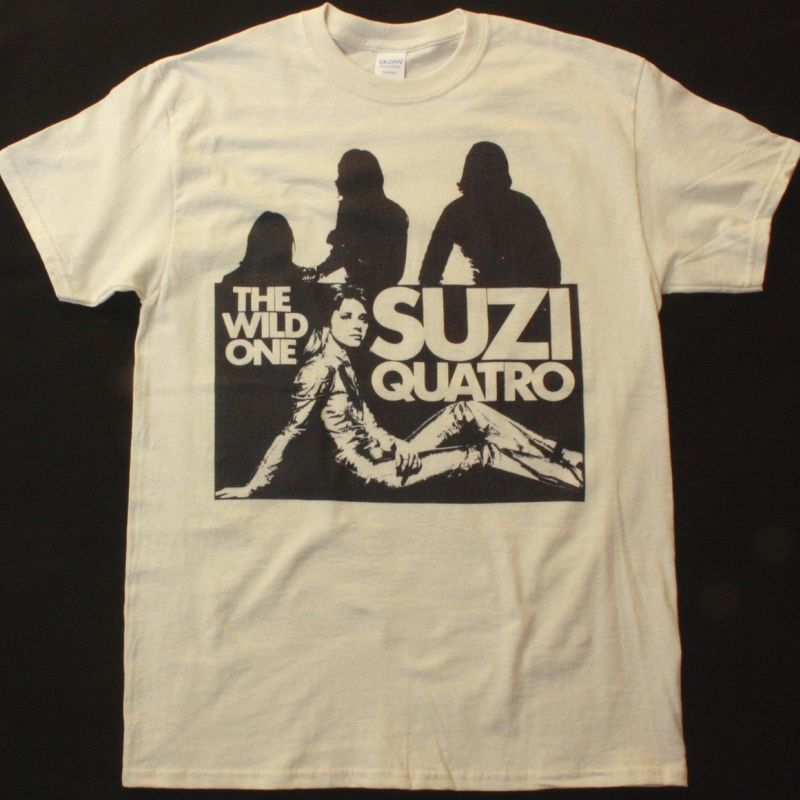 SUZI QUATRO THE WILD ONE NEW NATURAL T-SHIRT