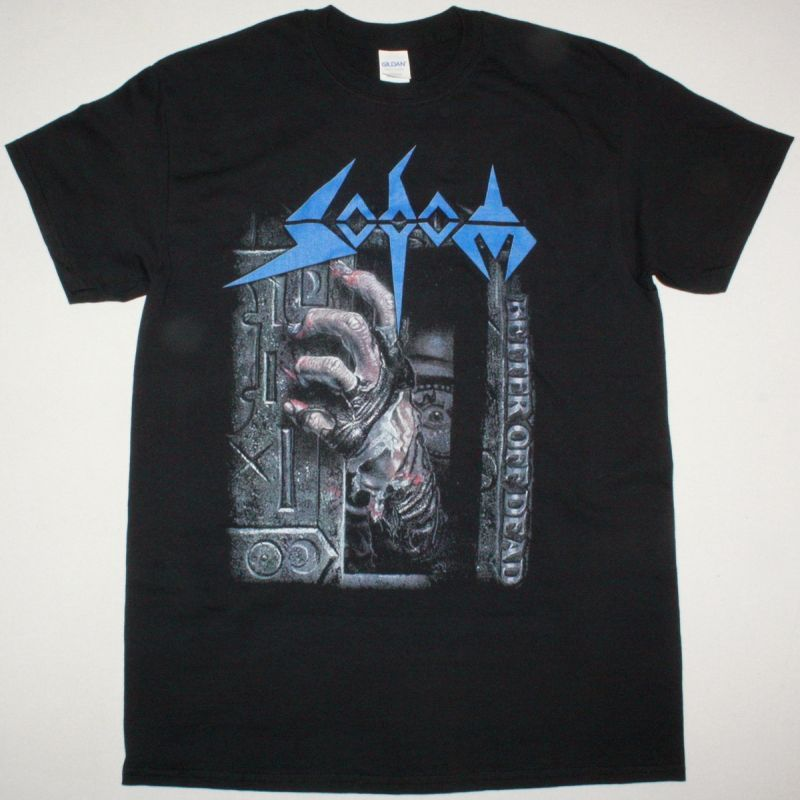 SODOM BETTER OFF DEAD 1990 NEW BLACK T-SHIRT
