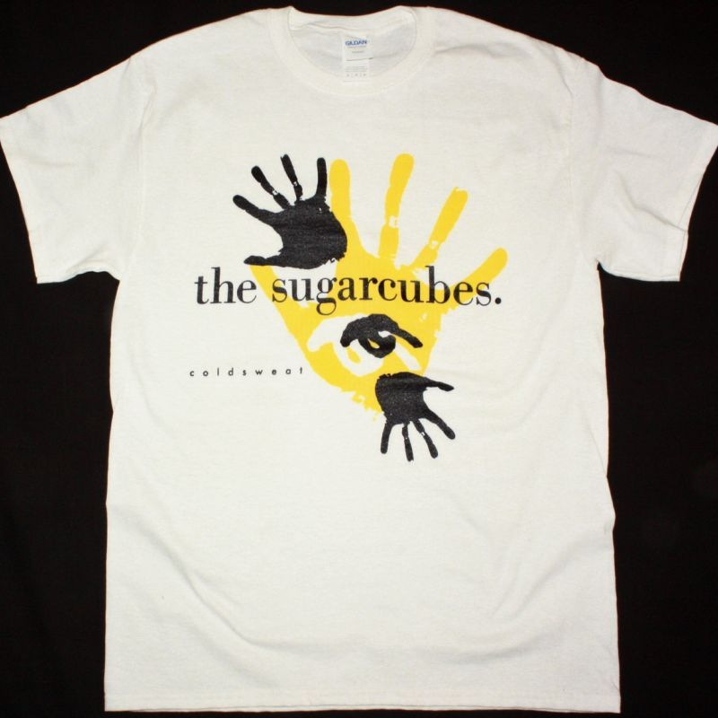 THE SUGARCUBES COLDSWEAT NEW WHITE T SHIRT