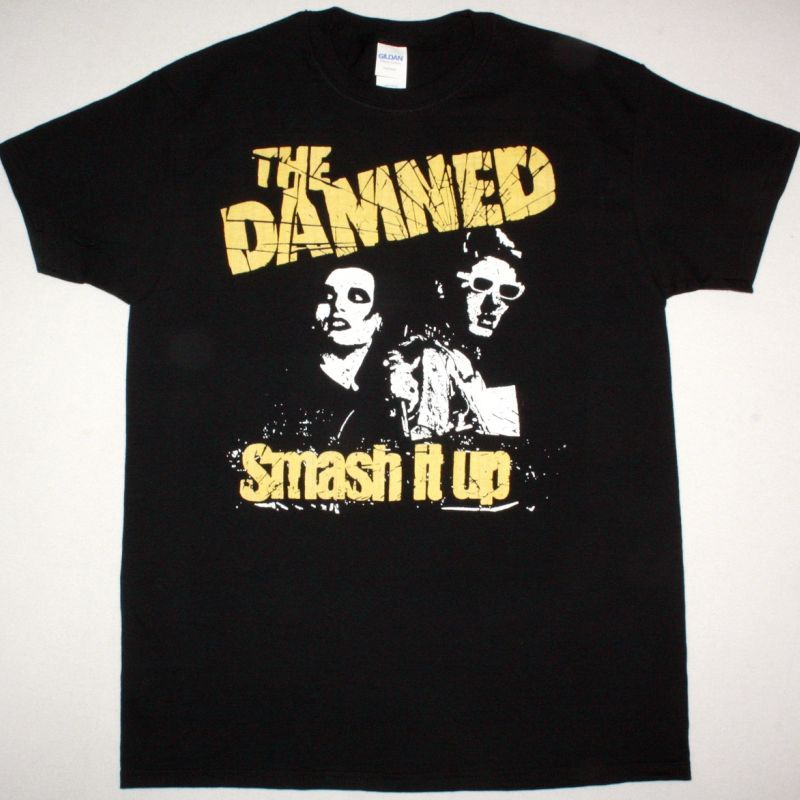 THE DAMNED SMASH IT UP NEW BLACK T SHIRT