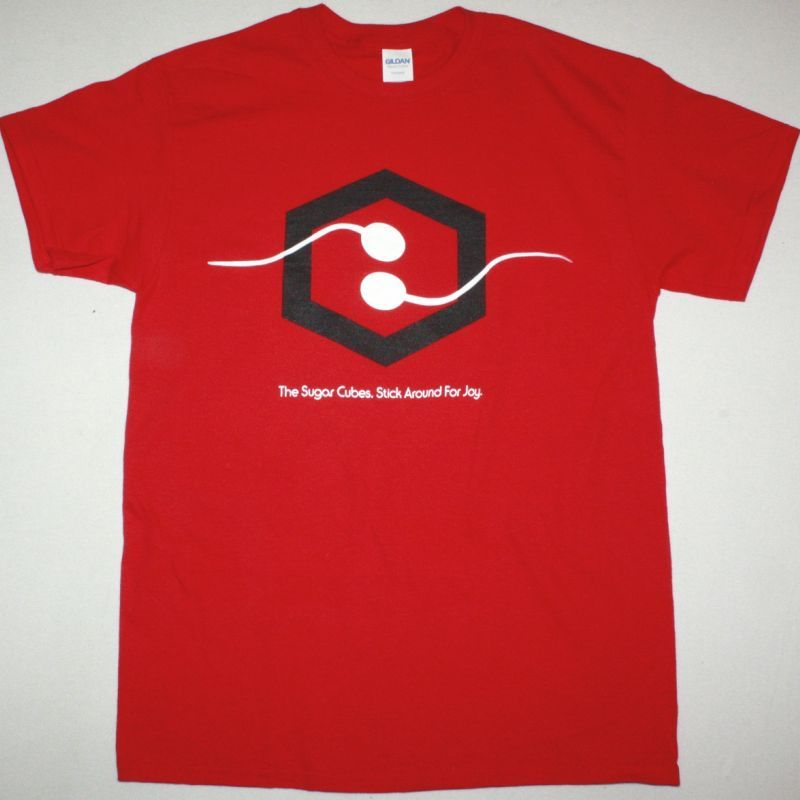 THE SUGARCUBES STICK AROUND FOR JOY V2 NEW RED T SHIRT