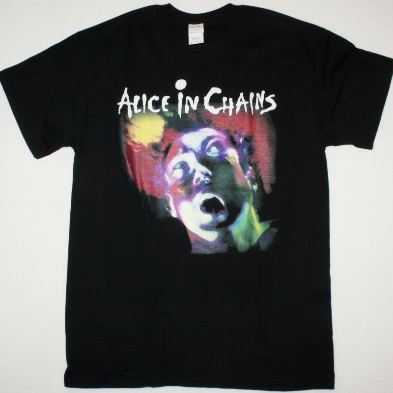ALICE IN CHAINS FACELIFT NEW BLACK T SHIRT
