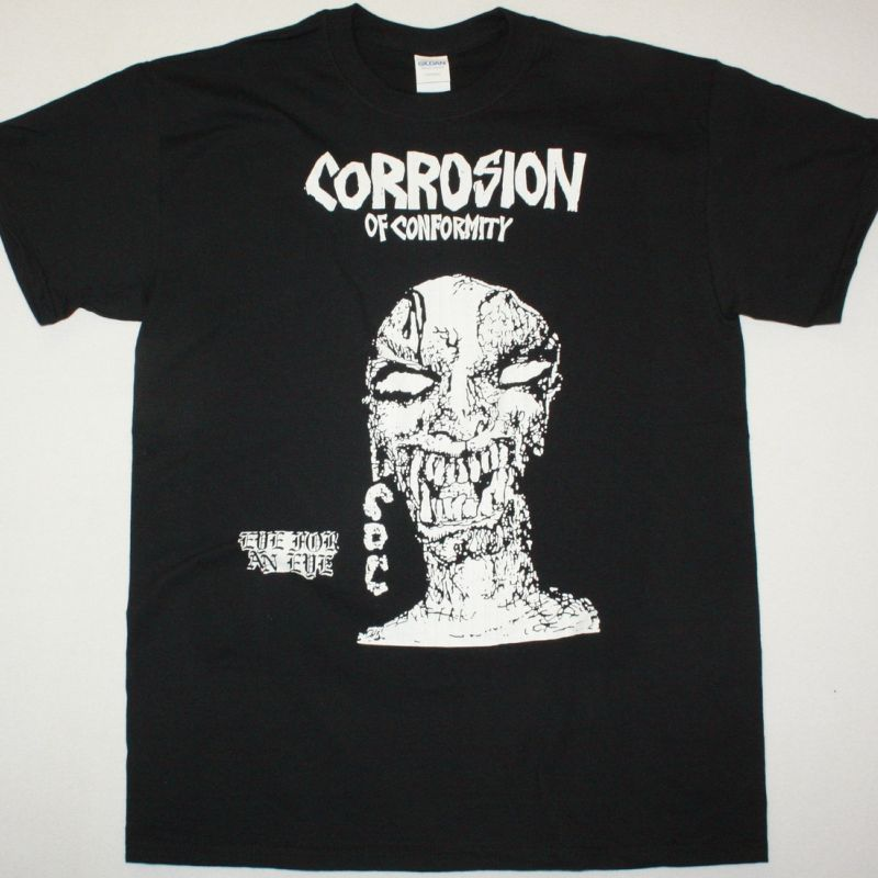 CORROSION OF CONFORMITY EYE FOR AN EYE 1984 NEW BLACK T-SHIRT