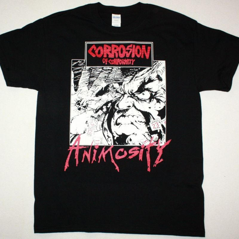 CORROSION OF CONFORMITY ANIMOSITY 1985 NEW BLACK T-SHIRT