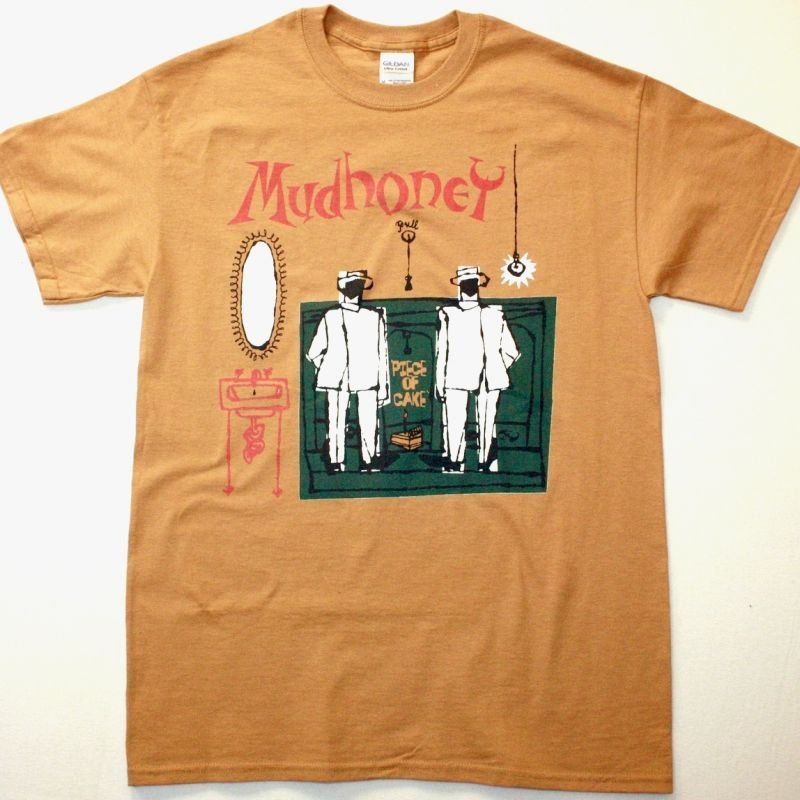 MUDHONEY PIECE OF CAKE NEW CAMEL COLOR T SHIRT