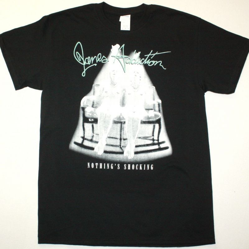 JANE'S ADDICITON NOTHING SHOCKING NEW BLACK T SHIRT