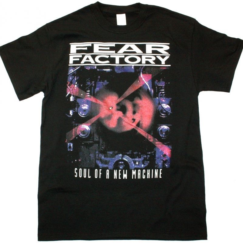 FEAR FACTORY SOUL OF A NEW MACHINE NEW BLACK T-SHIRT