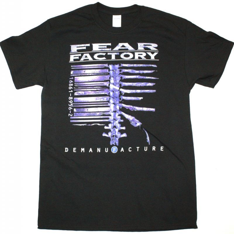 FEAR FACTORY DEMANIFACTURE NEW BLACK T-SHIRT