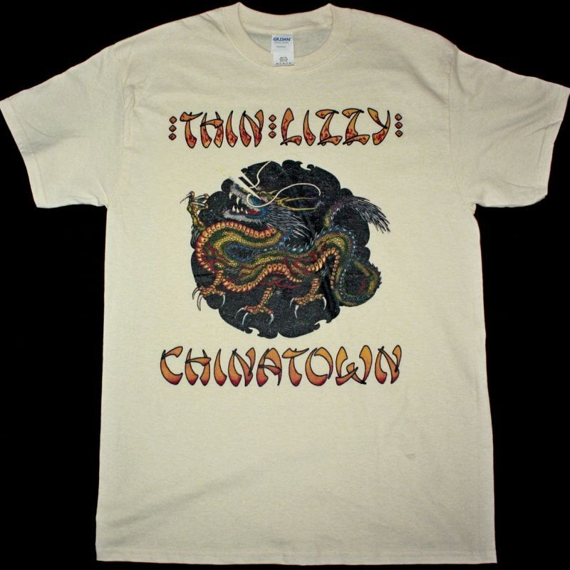 THIN LIZZY CHINATOWN NEW NATURAL T-SHIRT