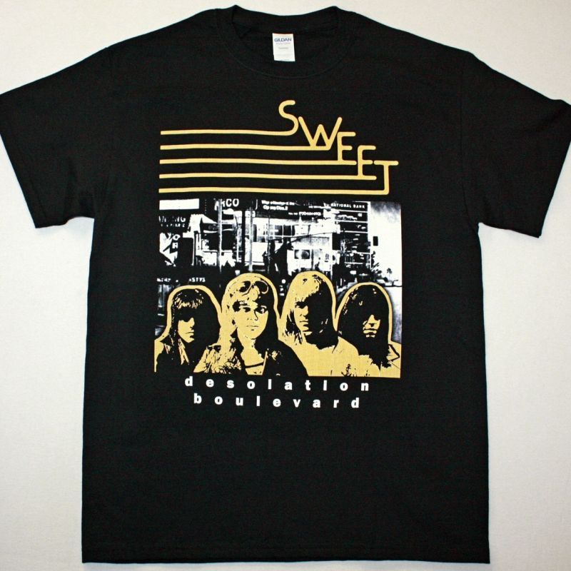 SWEET DESOLATION BOULEVARD NEW BLACK T-SHIRT