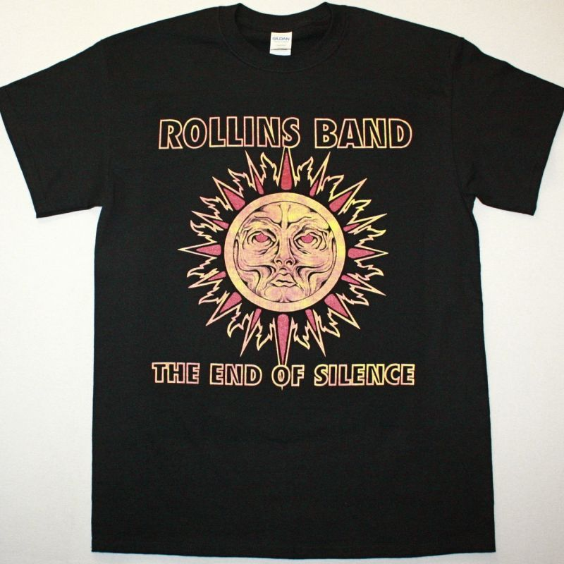 ROLLINS BAND THE END OF SILENCE NEW BLACK T-SHIRT