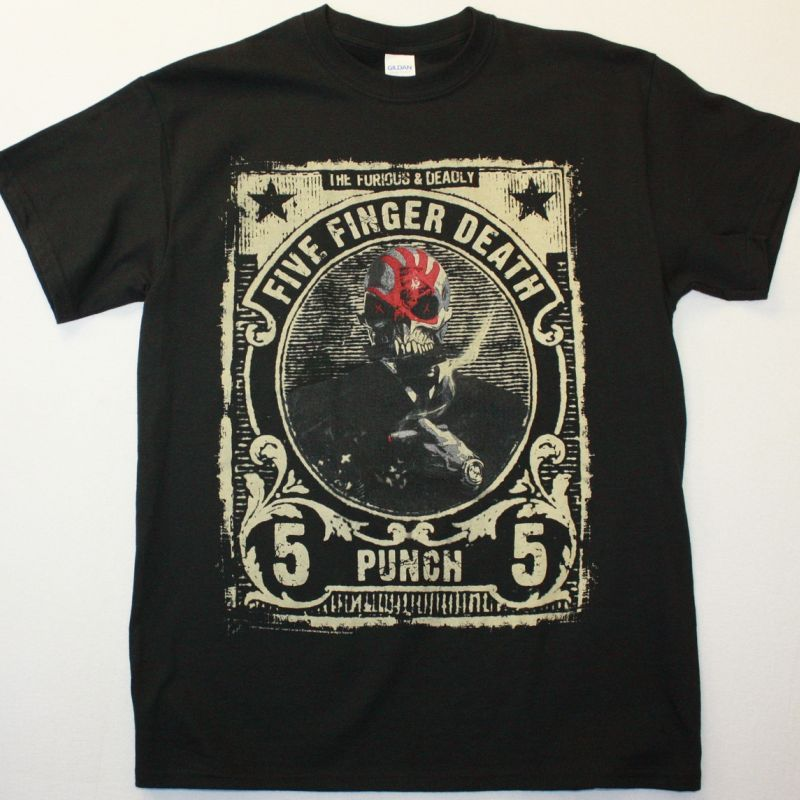 FIVE FINGER DEATH PUNCH THE FURIOUS AND DEADLY NEW BLACK T-SHIRT