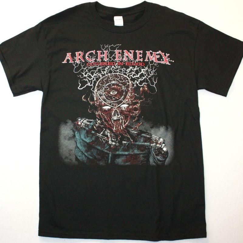 ARCH ENEMY COVERED IN BLOOD NEW BLACK T-SHIRT