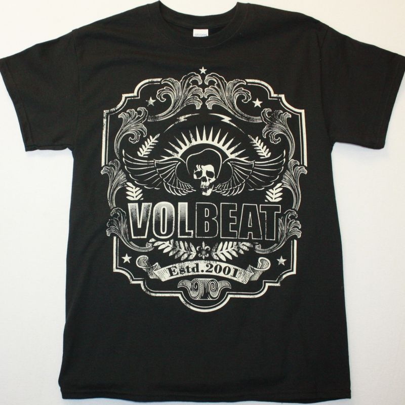 VOLBEAT ESTD 2001 NEW BLACK T-SHIRT
