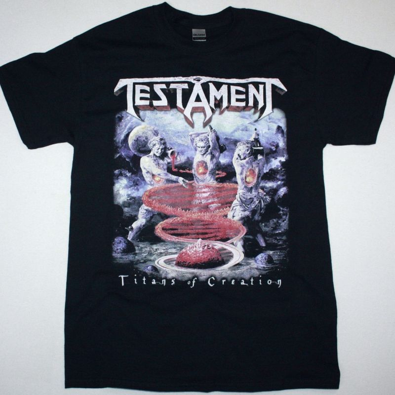 TESTAMENT TITANS OF CREATION NEW BLACK T-SHIRT