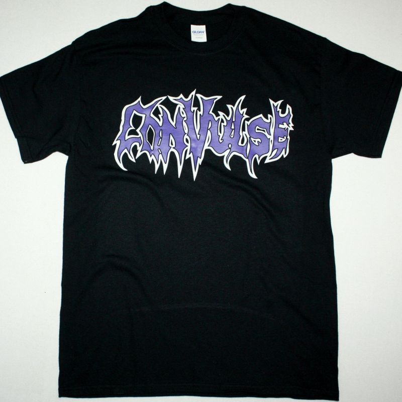 CONVULSE LOGO NEW BLACK T-SHIRT