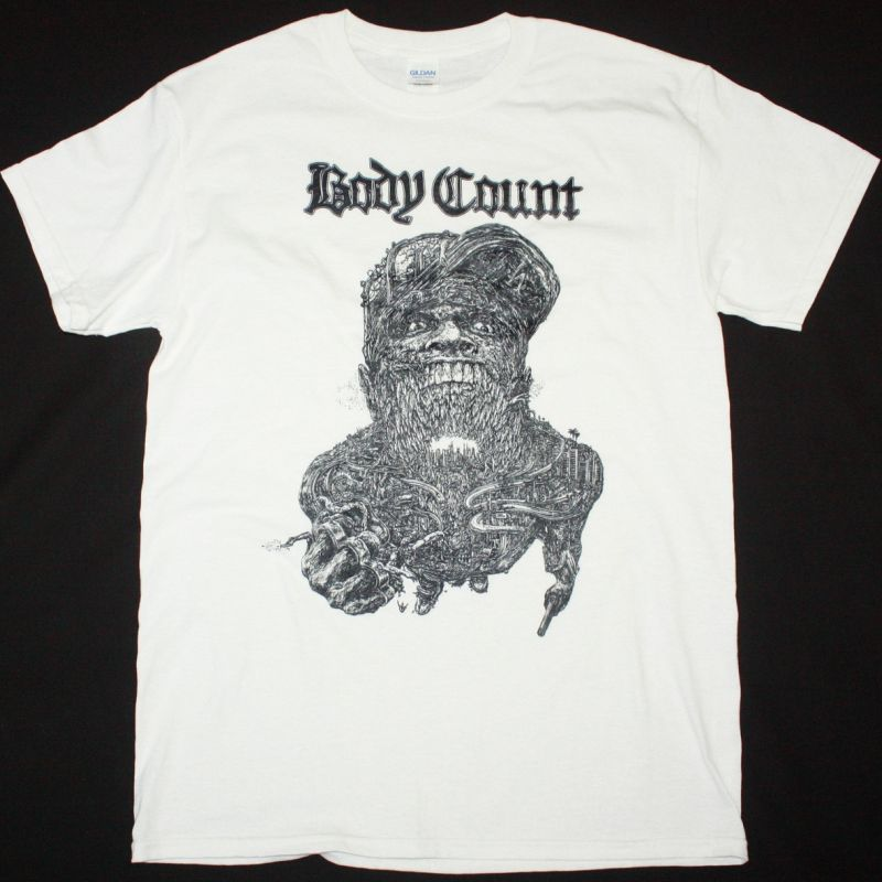 BODY COUNT CARNIVORE NEW WHITE T SHIRT