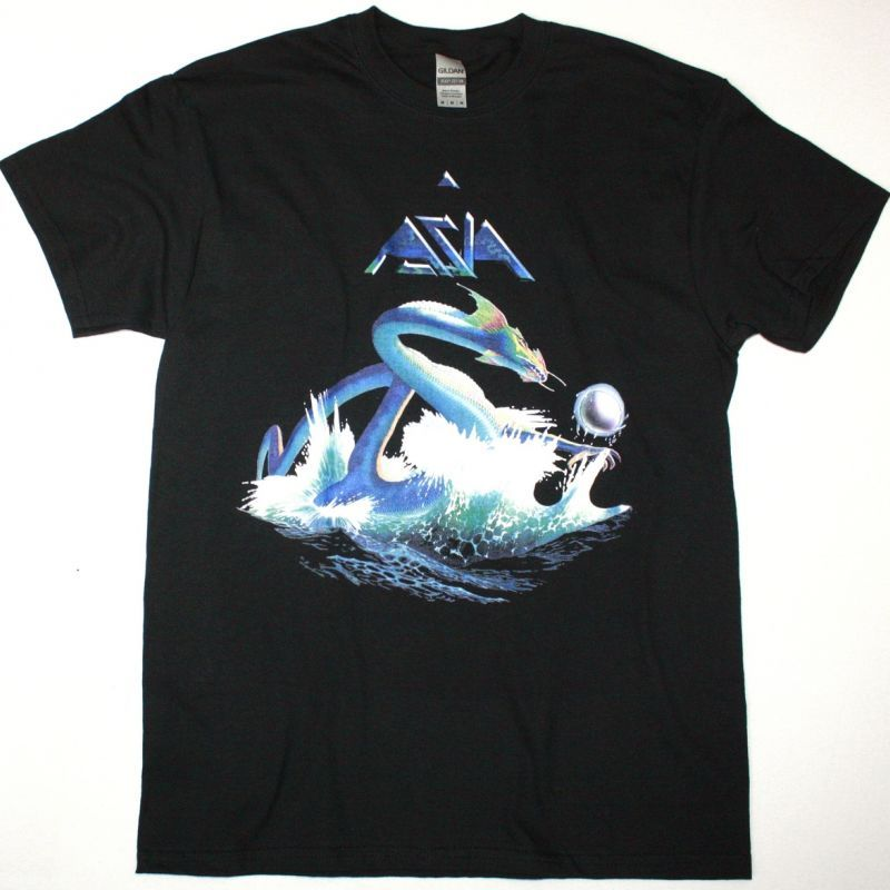 ASIA 1982 NEW BLACK T SHIRT