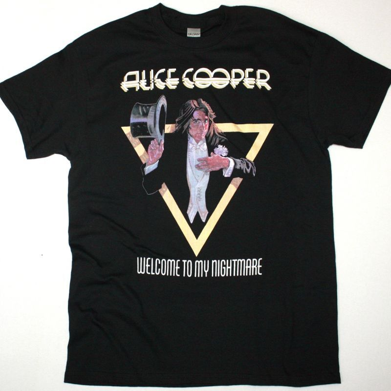 ALICE COOPER WELCOME TO MY NIGHTMARE NEW BLACK T SHIRT