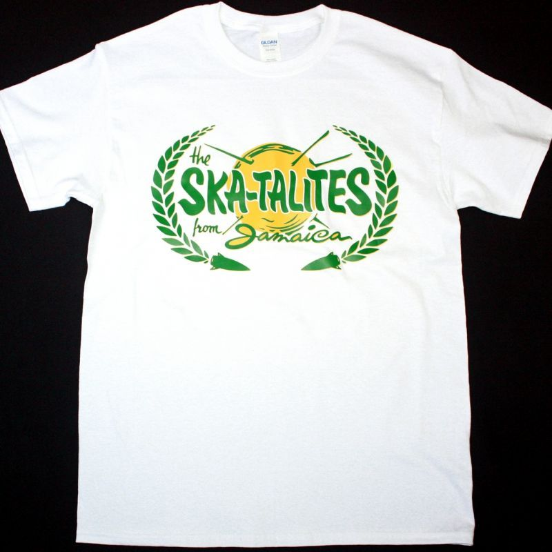 THE SKATALITES FROM JAMAICA NEW WHITE T SHIRT