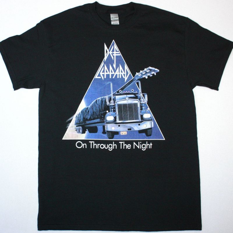 DEF LEPPARD ON THROUGH THE NIGHT NEW BLACK T SHIRT