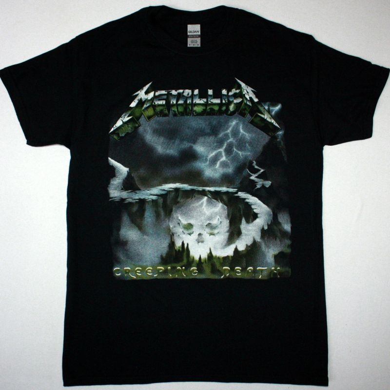 METALLICA CREEPING DEATH NEW BLACK T-SHIRT