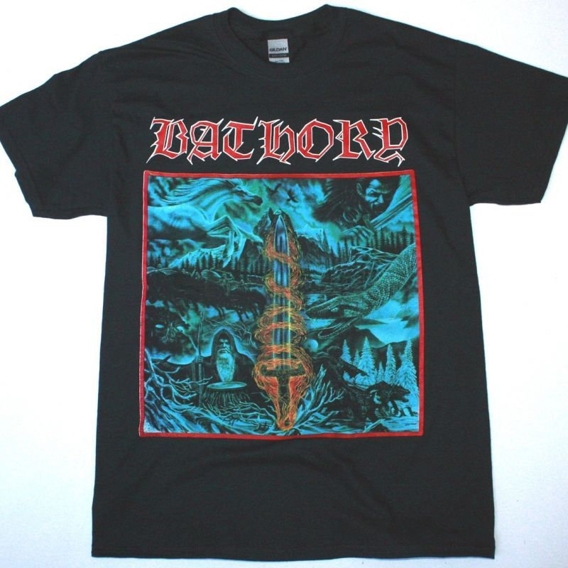 BATHORY BLOOD ON ICE NEW BLACK T-SHIRT