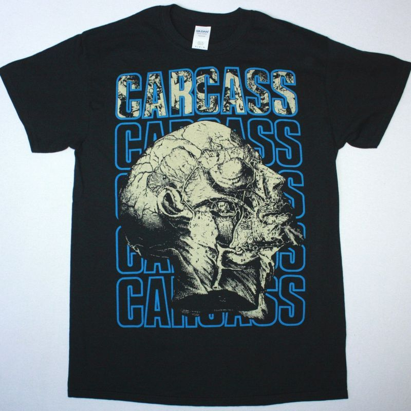 CARCASS NECRO HEAD NEW BLACK T-SHIRT