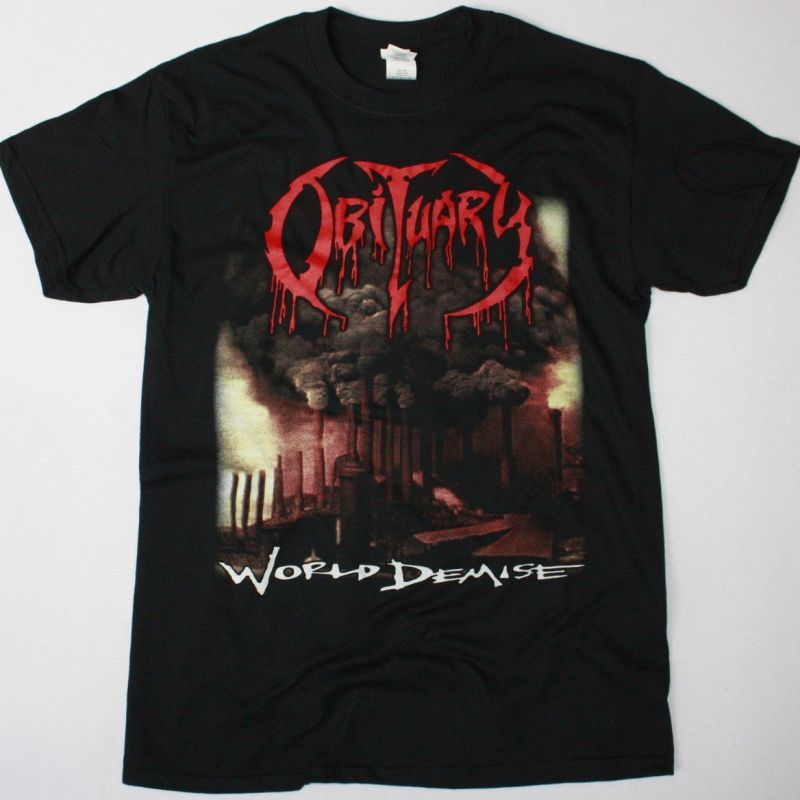 OBITUARY WORLD DEMISE NEW BLACK T-SHIRT