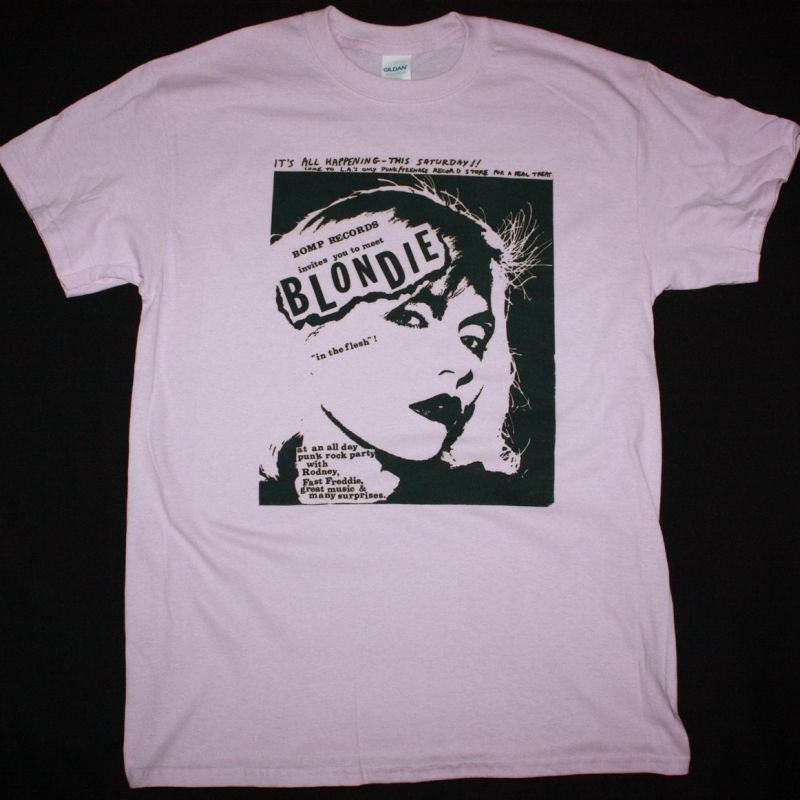 BLONDIE CONCERT NEW PINK T-SHIRT