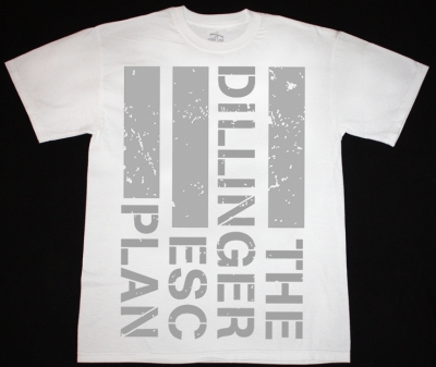THE DILLINGER ESCAPE PLAN LOGO NEW WHITE T-SHIRT