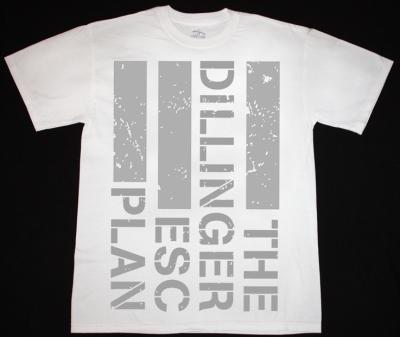 THE DILLINGER ESCAPE PLAN LOGO NEW WHITE T-SHIRT