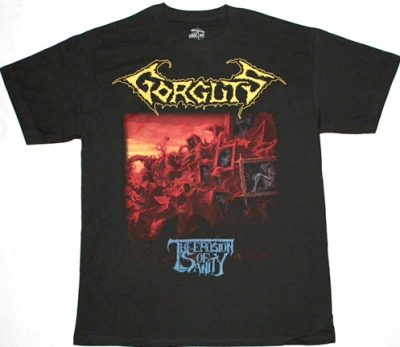 GORGUTS THE EROSION OF SANITY '93  NEW BLACK T-SHIRT