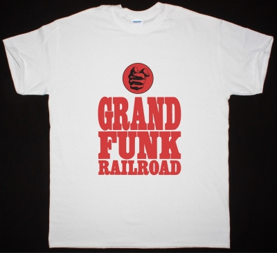 GRAND FUNK RAILROAD LOGO NEW WHITE T SHIRT