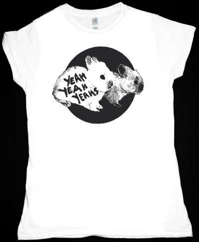 YEAH YEAH YEAHS BUNNY NEW WHITE LADY T-SHIRT