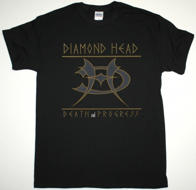 DIAMOND HEAD DEATH AND PROGRESS NEW BLACK T-SHIRT