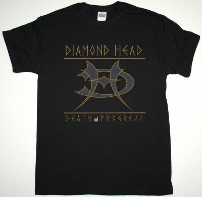 DIAMOND HEAD DEATH AND PROGRESS NEW BLACK T-SHIRT