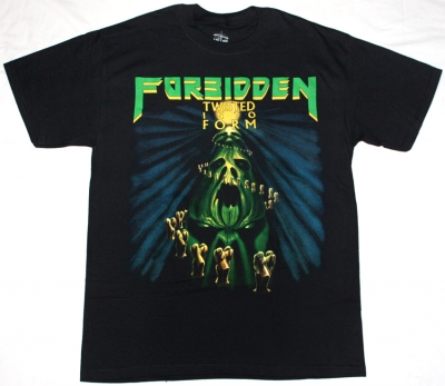 FORBIDDEN TWISTED INTO FORM '90 NEW BLACK T-SHIRT