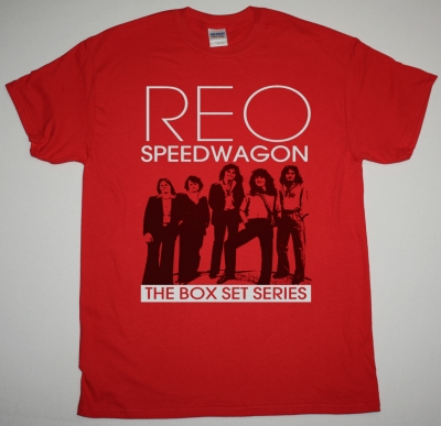 REO SPEEDWAGON THE BOXSET SERIES NEW RED T-SHIRT