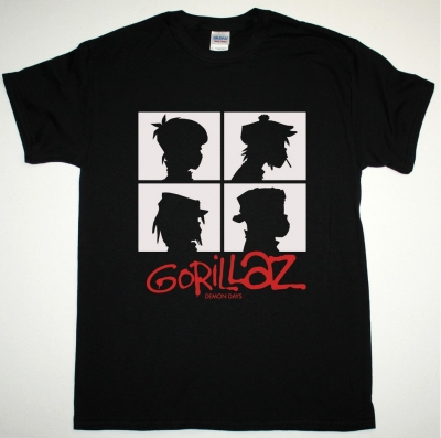 GORILLAZ DEMON DAYS NEW BLACK T SHIRT