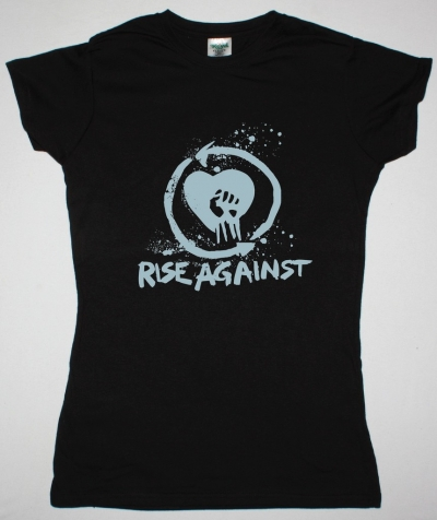 RISE AGAINST LOGO NEW BLACK LADY T-SHIRT