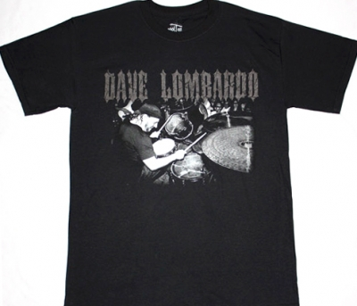 SLAYER DAVE LOMBARDO DRUMS NEW BLACK T-SHIRT