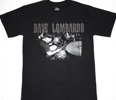 SLAYER DAVE LOMBARDO DRUMS NEW BLACK T-SHIRT