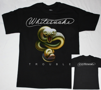 WHITESNAKE TROUBLE  NEW BLACK T-SHIRT