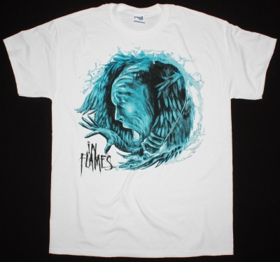 IN FLAMES SIREN CHARMS 2014 NEW WHITE T-SHIRT
