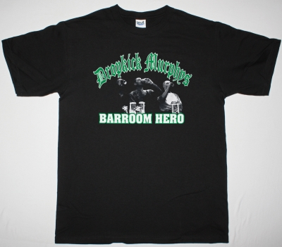 DROPKICK MURPHYS BARROOM HERO NEW BLACK T-SHIRT