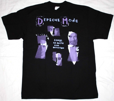 DEPECHE MODE SONGS OF FAITH AND DEVOTION NEW BLACK T-SHIRT