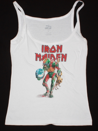 IRON MAIDEN THE FINAL FRONTIER TOUR NEW WHITE WOMAN'S VEST TANK TOP