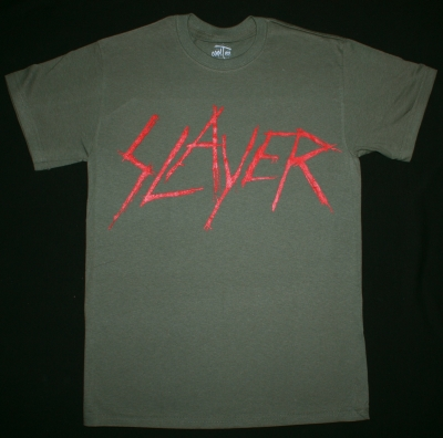 SLAYER BLOODY LOGO NEW KAKHI T-SHIRT