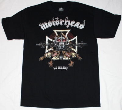 MOTORHEAD ALL THE ACES NEW BLACK T-SHIRT